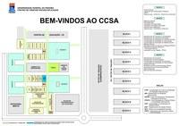 E mapas do CCSA para identificação do local de prova